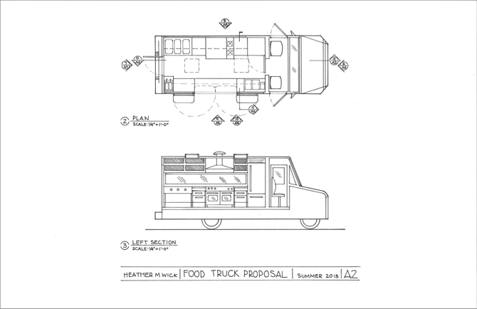 28 Layout For Proposed Mechanical Food Truck Proposal