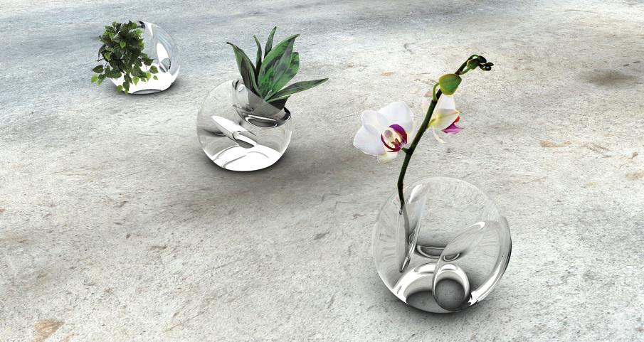 hoop vase. Black Bedroom Furniture Sets. Home Design Ideas
